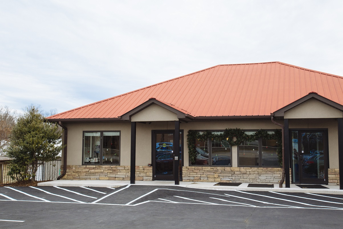 Remedy Health and Wellness building is on Hendersonville road, across from Mission-Pardee campus.
