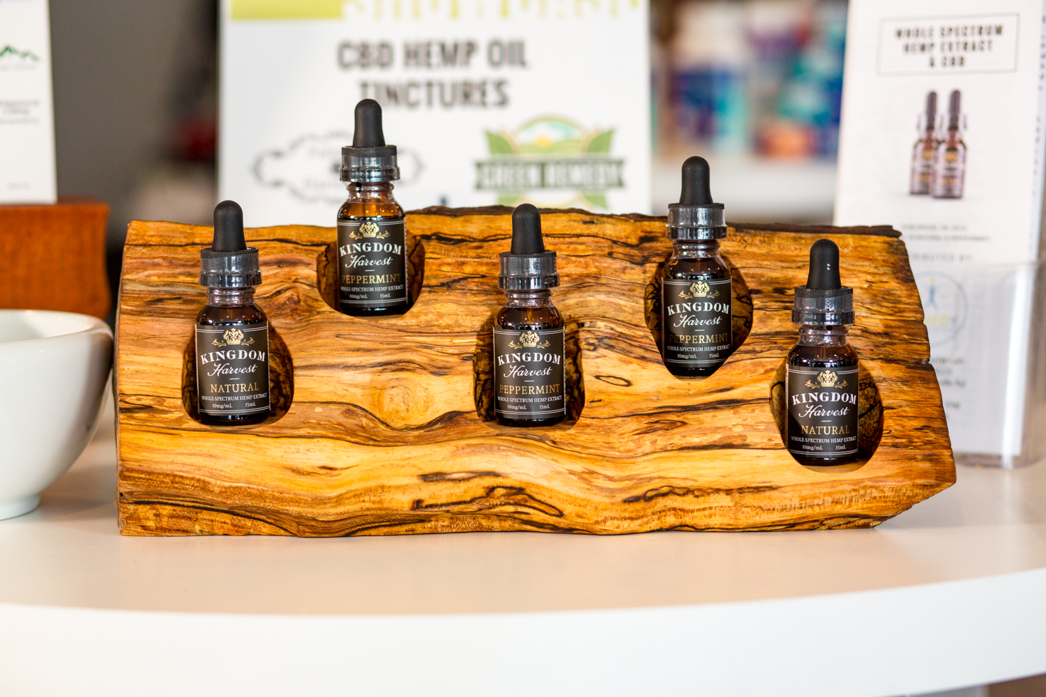 Kingdom Harvest CBD is sold in Remedy Health and Wellness Store in Asheville